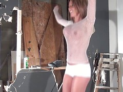Nikki Sims just wants to break shit in her Mesh outfit.  Watch those big titties jiggle around