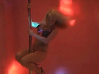 Madden shows off her moves on the stripper pole