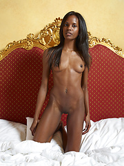 Her young black body is a treasure house - Erotic and nude pussy pics at GirlSoftcore.com