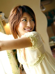 Yu Santome cute teen model has a nice form to show off