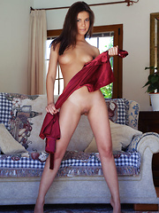 Zelda B flaunts amazing physique and sweet pussy on the sofa. - Erotic and nude pussy pics at GirlSoftcore.com