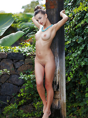 Gloria Sol shows off her smoking hot body outdoors. - Erotic and nude pussy pics at GirlSoftcore.com