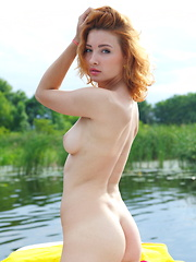 Kika shows off her delectable body and sweet pussy outdoors. - Erotic and nude pussy pics at GirlSoftcore.com