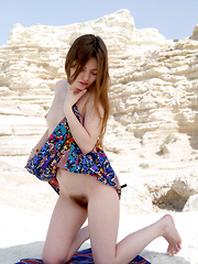 Klarissa shows off her bushy pussy as she poses outdoors. - Erotic and nude pussy pics at GirlSoftcore.com