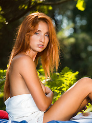 Alluring Michelle H shows off her lusty body in the woods. - Erotic and nude pussy pics at GirlSoftcore.com