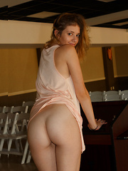 Sloan Kendricks Takes The Podium - Erotic and nude pussy pics at GirlSoftcore.com
