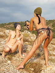 Perfect teen sweethearts show their hot naked bodies and their love for each other outdoors. - Erotic and nude pussy pics at GirlSoftcore.com