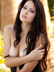 Black and Blue set from cute babe Natasha Belle - Erotic and nude pussy pics at GirlSoftcore.com