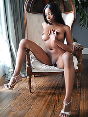 Skinny ebony babe Courtney - Erotic and nude pussy pics at GirlSoftcore.com