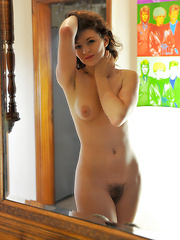 Young model shows her hairy pussy - Erotic and nude pussy pics at GirlSoftcore.com