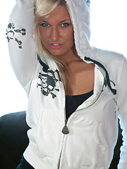 White Hoodie - Erotic and nude pussy pics at GirlSoftcore.com