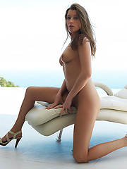 Laetitia in Poltrona by Erro - Erotic and nude pussy pics at GirlSoftcore.com