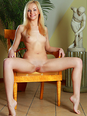 Janice makes an erotic entree for a 19-year old stunner from Russia. - Erotic and nude pussy pics at GirlSoftcore.com