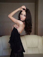 Zsanett Tormay gives a glimpse of her dual personality, from a sweet, girl-next-door vibe with the charming smile, to the daring, sultry vixen in a elegant sexy black dress. - Erotic and nude pussy pics at GirlSoftcore.com