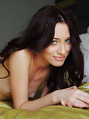 Absolutely stunning and charming Zsanett Tormay with her sultry gaze, tempting looks, and pink, huge labia.   - Erotic and nude pussy pics at GirlSoftcore.com