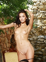 Skinny girl Olga has small tits - Erotic and nude pussy pics at GirlSoftcore.com