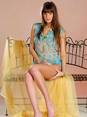 Cute russian girl shows perky tits