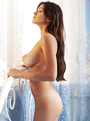 Spiritual young girl who has dark hair and large breasts is so comfortable and so beautiful too. - Erotic and nude pussy pics at GirlSoftcore.com
