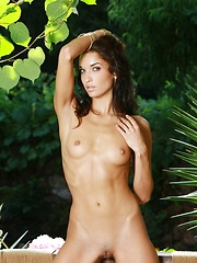 Cute skinny girl Olga demonstrates her perfect body