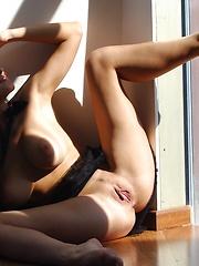 Teen girl Sofi with big breasts