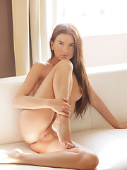 Cute girl Monika posing naked - Erotic and nude pussy pics at GirlSoftcore.com