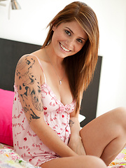 Pink Nighty - Erotic and nude pussy pics at GirlSoftcore.com