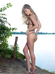 Candice B poses in nature - Erotic and nude pussy pics at GirlSoftcore.com