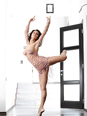 Elsa makes a gorgeous series in pink   fishnet top while she dances gracefully   like a ballerina that shows off her   stunning flexible body, long sexy legs   and especially her round perky butt. - Erotic and nude pussy pics at GirlSoftcore.com