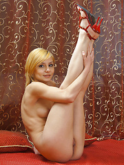 The seductive Marianna shows off her   flexible, slender body in a stunning   series. - Erotic and nude pussy pics at GirlSoftcore.com