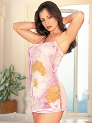 Aria Giovanni - takes a bubble bath - Erotic and nude pussy pics at GirlSoftcore.com