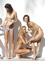 Oiled models posing in bikini - Erotic and nude pussy pics at GirlSoftcore.com