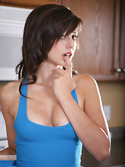 Blue Tank Top - Erotic and nude pussy pics at GirlSoftcore.com