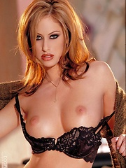 Cassia Riley - Brown top and skirt with the sexy black bra & pantys - Erotic and nude pussy pics at GirlSoftcore.com