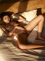 Short-haired beauty from Hegre Art - Erotic and nude pussy pics at GirlSoftcore.com