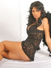 Karla Spice is your sexy dark angle that reveals almost all her beautiful naked body - Erotic and nude pussy pics at GirlSoftcore.com
