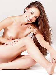 Skinny babe with a radio receiver - Erotic and nude pussy pics at GirlSoftcore.com
