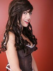 Babe in Brown Corset - Erotic and nude pussy pics at GirlSoftcore.com