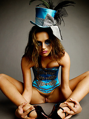 Tori Black solo in a mad hatter costume