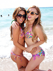 Lexi Belle and Melanie Rios public bikini teasing - Erotic and nude pussy pics at GirlSoftcore.com