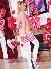 Lexi Belle thrills in this solo Valentine strip show - Erotic and nude pussy pics at GirlSoftcore.com