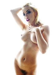 Pornstar Lexi Belle costumed like an angel and glowing