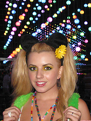 Lexi Belle collected these photos while partying in costume - Erotic and nude pussy pics at GirlSoftcore.com