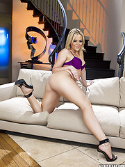Perky Alexis Texas bends over and shows off her hot bubble butt in this photo set