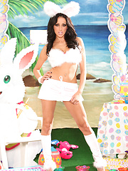 Breanne Benson horny and wild in an Easter uniform