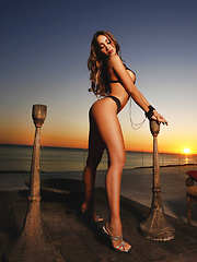 Asian superstar Katsuni strips in public on a beach - Erotic and nude pussy pics at GirlSoftcore.com