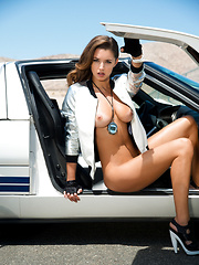 Gentlemen, start your engines for Alyssa Arcè, Playboy Miss July 2013 - Erotic and nude pussy pics at GirlSoftcore.com
