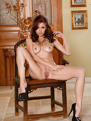 Chrissy Marie fucks her tight pussy in all positions - Erotic and nude pussy pics at GirlSoftcore.com
