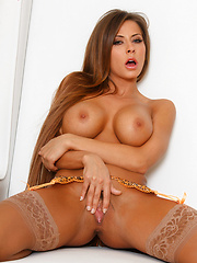Madison Ivy shows off her juicy pussy at the patio - Erotic and nude pussy pics at GirlSoftcore.com