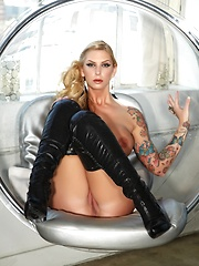 Brooke In a Sexy Orb Chair - Erotic and nude pussy pics at GirlSoftcore.com