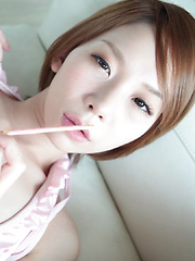Welcome to sweets land in Japan. Ryouko is the killer hearts queen! Strawberry chocolate melts when it touches her sexy warm lips, nipples, legs, and pussy. - Erotic and nude pussy pics at GirlSoftcore.com